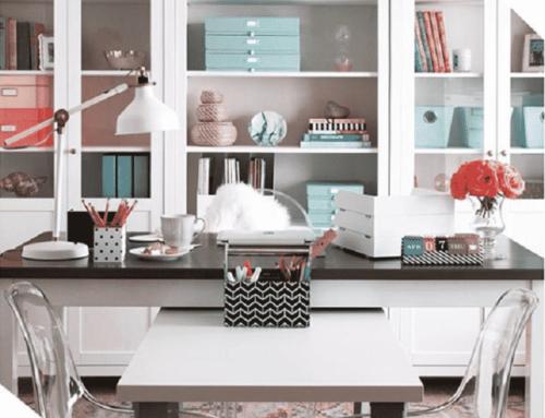 STORAGE & ORGANIZATION IDEAS FOR YOUR HOMEOFFICE